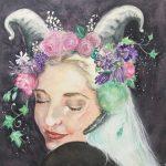 Watercolour horoscope portr