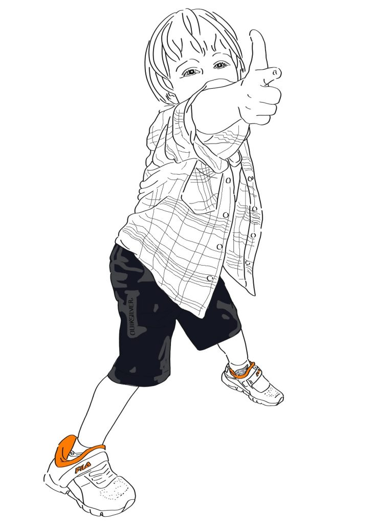 Children's digital portrait